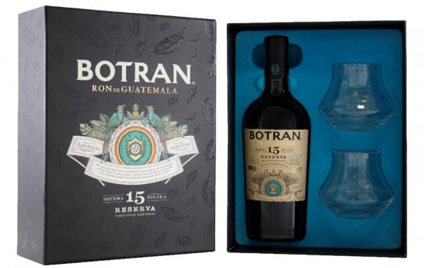 Botran 15 J. Sistema Solera 0,7 l im GK. + 2 Gläser